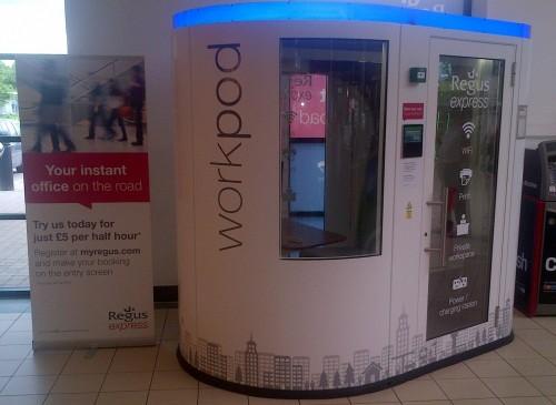 "Regus Express ""Work Pod"" opens at Baldock MSA"