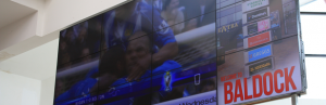 Sporting events shown on Giant TV screens