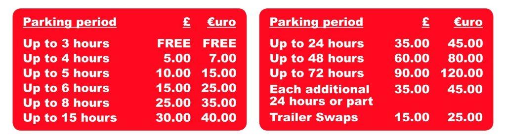 Parking Tariff changes at Cobham MSA